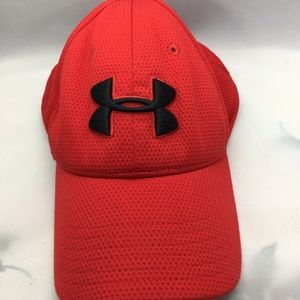 Under Armour Fitted Red Hat Cap with Stitched Logo